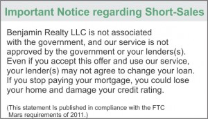 Short Sale Required Advisory